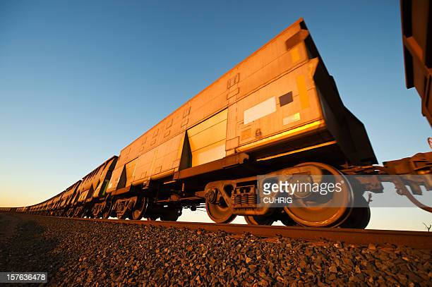 Iron Ore Train Cars close up