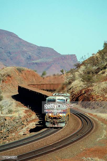 Iron ore train in spectacular hills