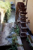 Iron wheel of a water mill Mairago Lombardy Italy