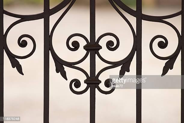 Iron Wrought Gate Closeup