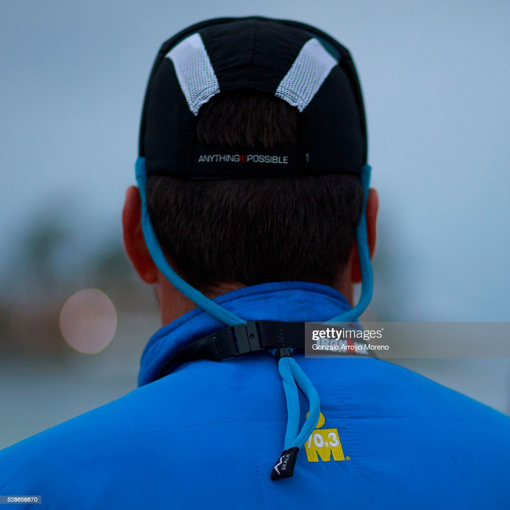 Ironman 70.3 Mallorca race director David Thomson looks to the sea the day before Ironman 70.3 Mallorca on May 6, 2016 in Alcudia, at Palma de Mallorca island, Spain.