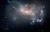 Magellanic dwarf irregular galaxy NGC 4449 in the constellation Canes Venatici.
