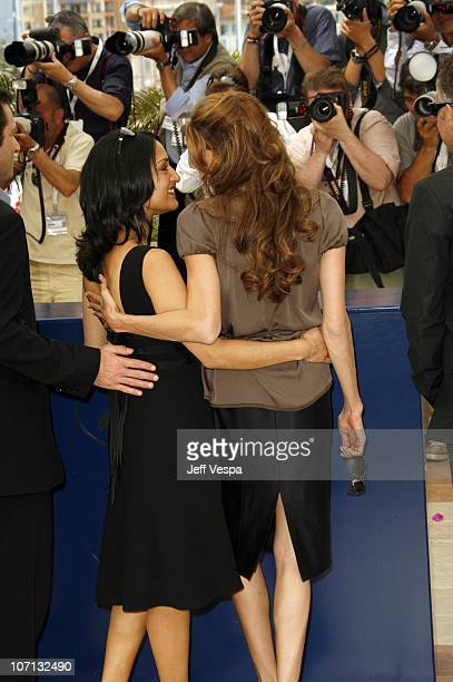 Irrfan Khan and Angelina Jolie during 2007 Cannes Film Festival 'A Mighty Heart' Photocall at Palais des Festival in Cannes France