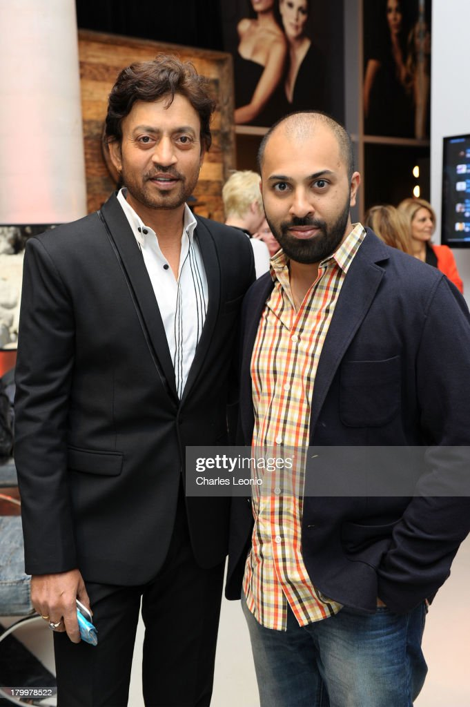 Irrfan Khan and Ritesh Batra at Guess Portrait Studio on Day 3 during the 2013 Toronto International Film Festival at Bell Lightbox on September 7, 2013 in Toronto, Canada.