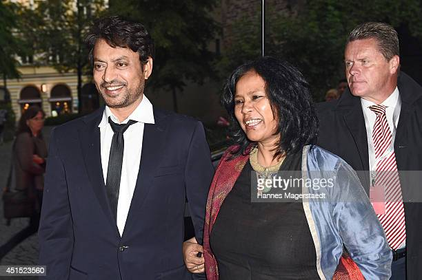 Irrfan Khan and wife Sutapa Sikdar attend the 'Qissa' Premiere as part of Filmfest Muenchen 2014 on June 30 2014 in Munich Germany