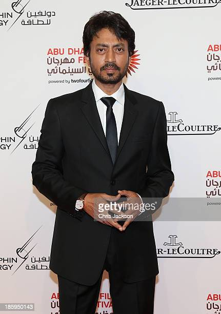 Irrfan Khan attends the 'Qissa The Tale of a Lonely Ghost' premiere on day 3 of the Abu Dhabi Film Festival 2013 at Emirates Palace on October 26...