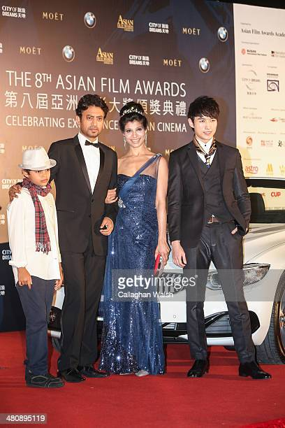 Irrfan Khan of India and guests attend the Asia Film Awards 2014 at the Grand Hyatt Hotel on March 27 2014 in Macau Macau