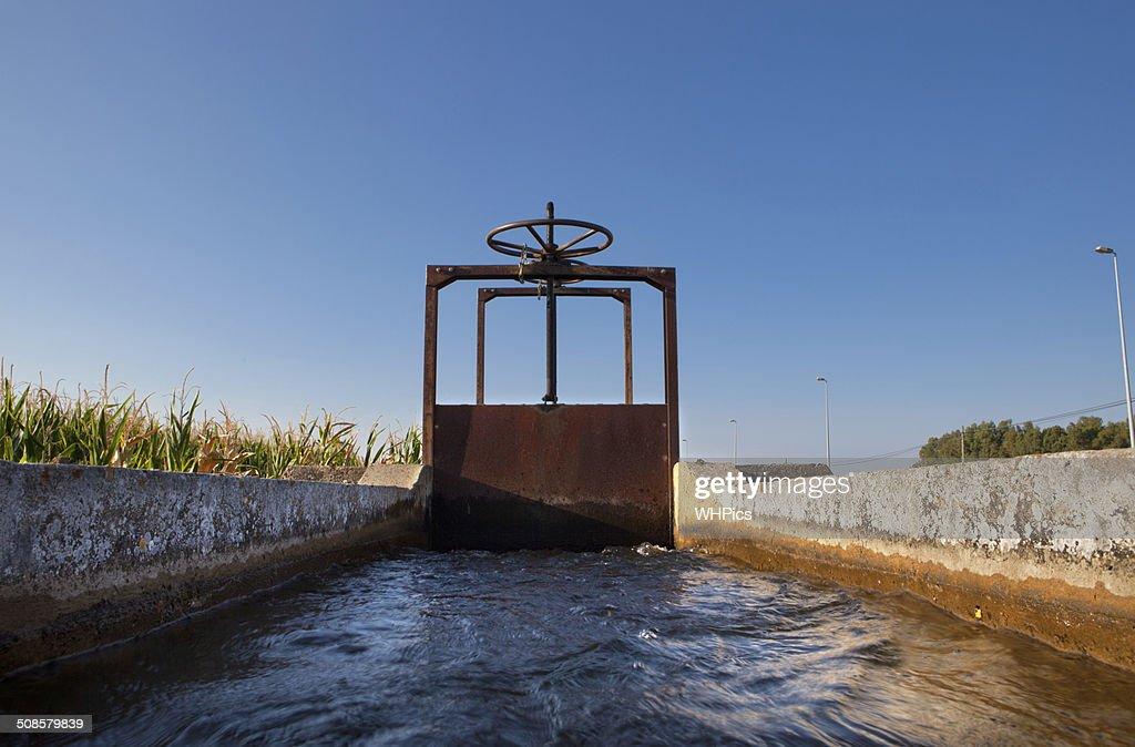 Irrigation lock : Stock Photo
