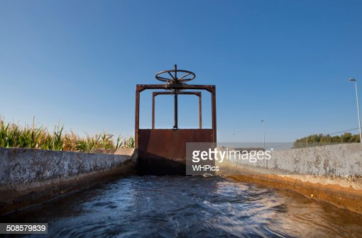 Irrigation lock : Stock Photo