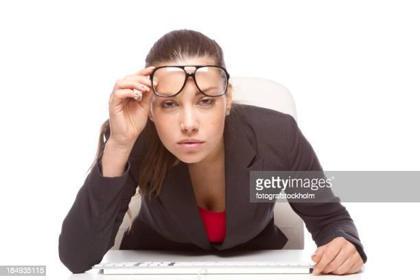 Gereizte Augen und computer