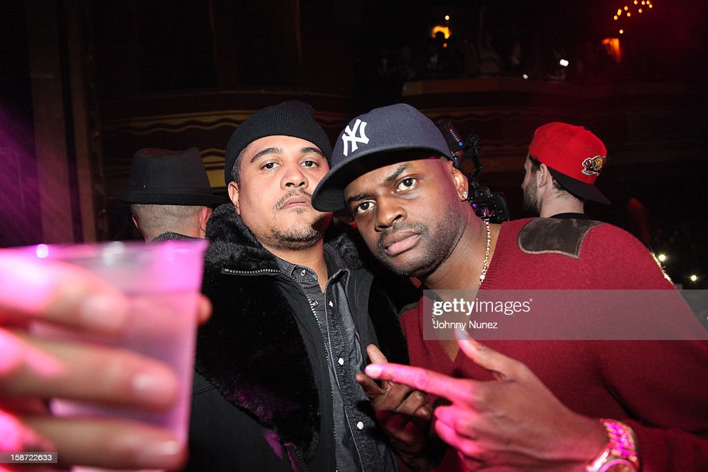 Irv Gotti and Manny Halley attend Nicki Minaj's Christmas Extravaganza at Webster Hall on December 25, 2012 in New York City.