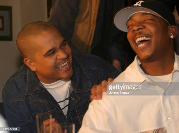 Irv Gotti of Inc and Ja Rule during Lloyd's Southside Video Shoot Featuring Ashanti at Trenton NJ Firestation in Trenton New Jersey United States