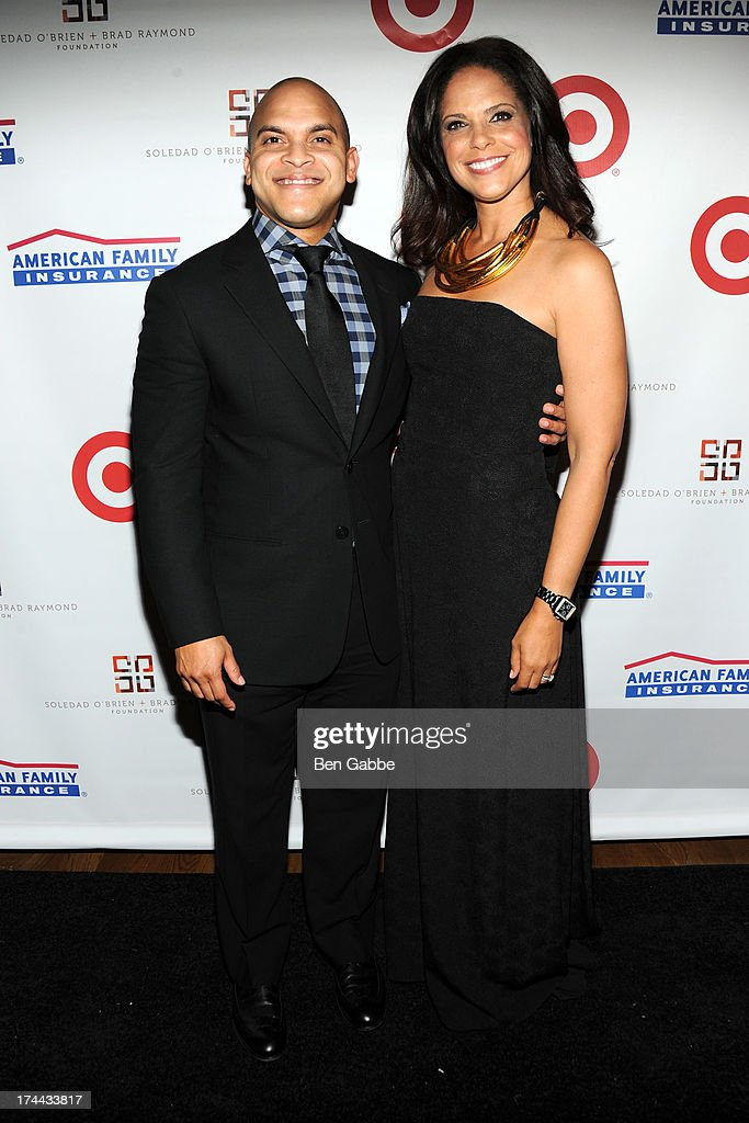 Irvin Mayfield (L) and Soledad O'Brien attend New Orleans To New York City Benefit Gala at Donna Karen's Stephen Weiss Studio on July 25, 2013 in New York City.
