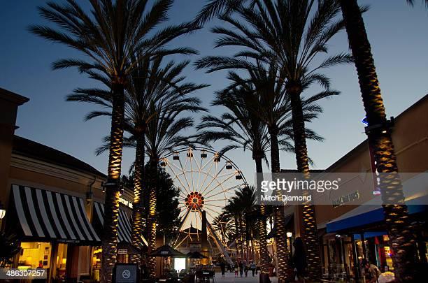 Irvine Spectrum mall in the evening