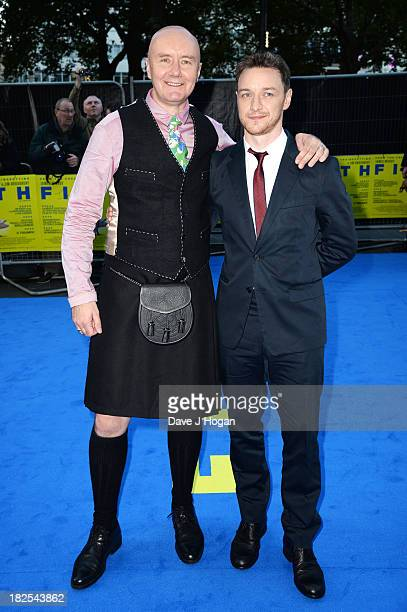 Irvine Welsh and James McAvoy attend the London premiere of 'Filth' at The Odeon Leicester Square on September 30 2013 in London England
