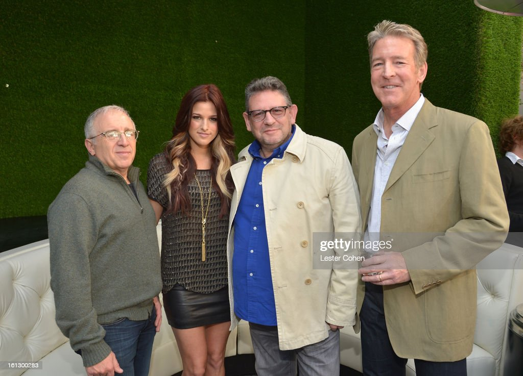 <a gi-track='captionPersonalityLinkClicked' href=/galleries/search?phrase=Irving+Azoff&family=editorial&specificpeople=2560071 ng-click='$event.stopPropagation()'>Irving Azoff</a>, 'The Voice' Season 3 winner <a gi-track='captionPersonalityLinkClicked' href=/galleries/search?phrase=Cassadee+Pope&family=editorial&specificpeople=5613333 ng-click='$event.stopPropagation()'>Cassadee Pope</a>, Chairman/CEO of Universal Music International <a gi-track='captionPersonalityLinkClicked' href=/galleries/search?phrase=Lucian+Grainge&family=editorial&specificpeople=813742 ng-click='$event.stopPropagation()'>Lucian Grainge</a>, and President/CEO of Universal Music Group Distribution Jim Urie attend Universal Music Group Showcase '13 Backstage at Lure on February 9, 2013 in Hollywood, California.