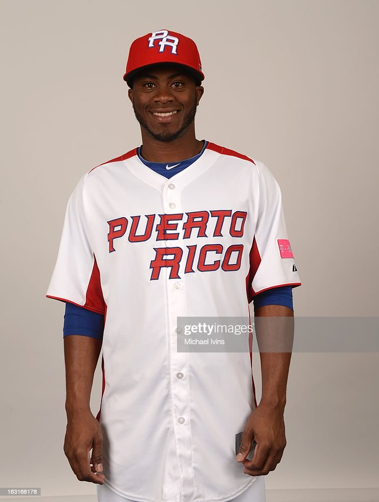 Irving Falu #19 of Team Puerto Rico poses for a headshot for the 2013 World Baseball Classic at the City of Palms Baseball Complex on Monday, March 4, 2013 in Fort Myers, Florida.