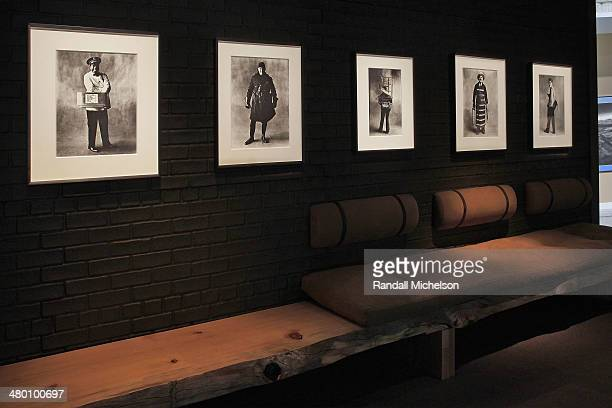 Irving Penn photographs on display at Hamilton's Gallery London booth at Paris Photo Los Angeles at Paramount Studios on April 27 2013 in Hollywood...