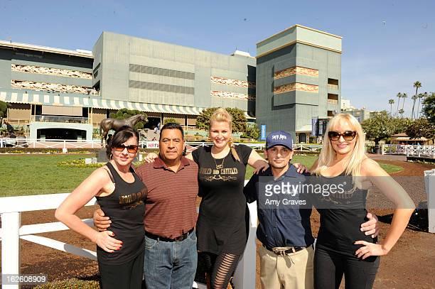 Iryna Clarke Miiguel Delgado Josie Goldberg Ralph Castaneda and Dita Clark attend Reality TV Personality Josie Goldberg and her race horse...