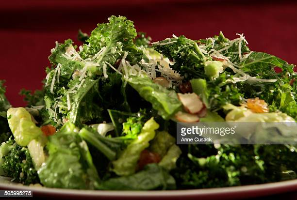 SOS is a chopped kale salad with lemon vinegarette photographed in the Los Angeles Times studio in Los Angeles on July 12 2012