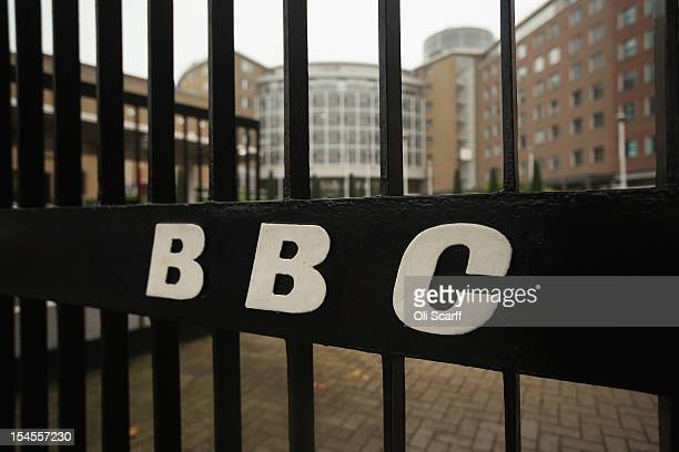 BBC is displayed on the gates to BBC Television Centre on October 22 2012 in London England The BBC producer in charge of a Newsnight documentary...