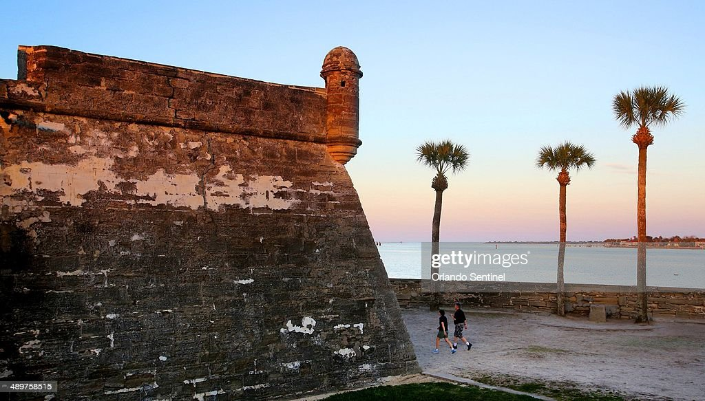 'C' is for the Castillo the old fort shown at sunset as seen Feb 25 2014