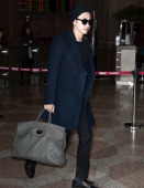 TVXQ is seen at Gimpo International Airport on December 4 2013 in Seoul South Korea