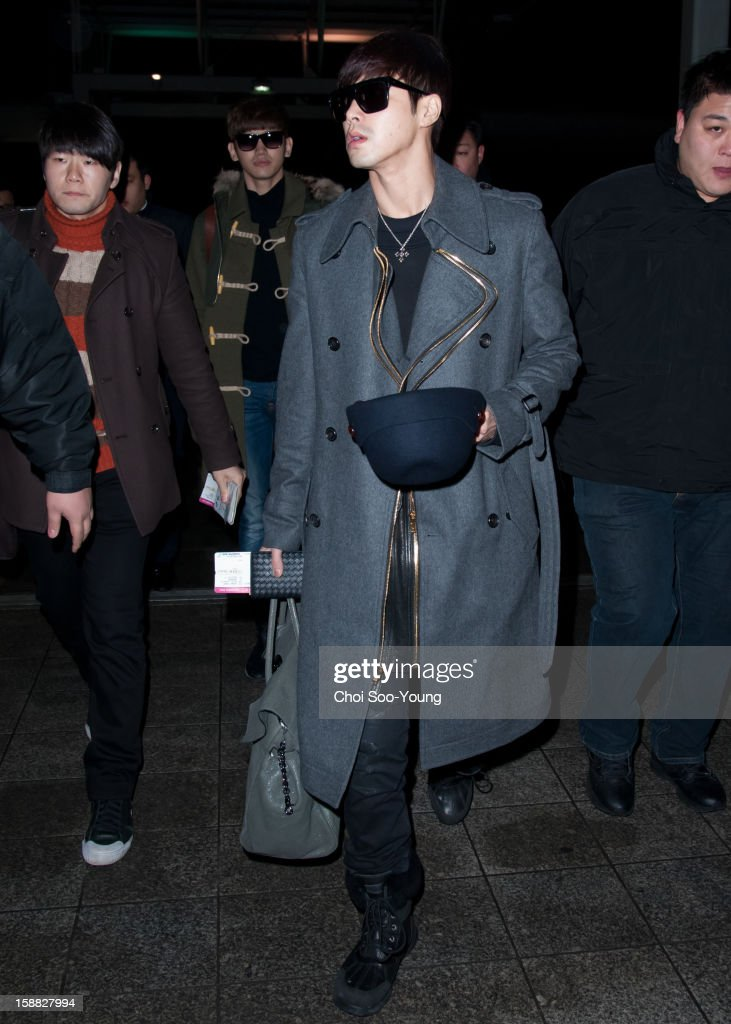 TVXQ is seen at Incheon International Airport on December 22, 2012 in Incheon, South Korea.