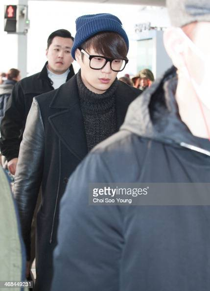 BEAST is seen at Incheon International Airport on February 7 2014 in Incheon South Korea