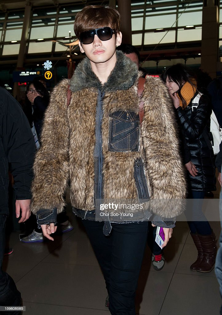 TVXQ is seen at Incheon International Airport on January 18, 2013 in Incheon, South Korea.
