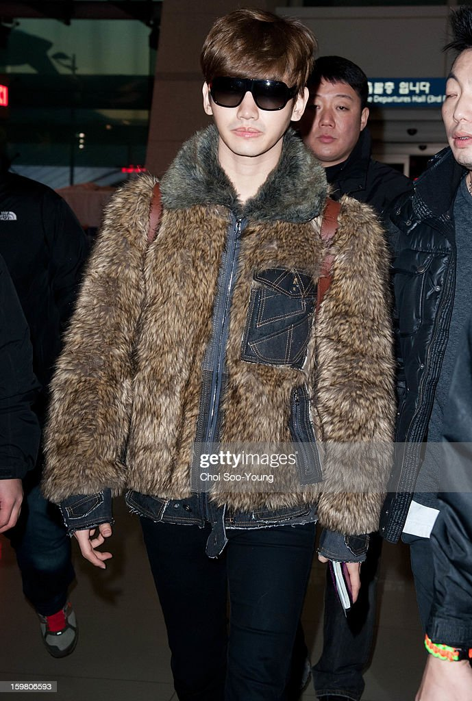 <a gi-track='captionPersonalityLinkClicked' href=/galleries/search?phrase=TVXQ&family=editorial&specificpeople=4304740 ng-click='$event.stopPropagation()'>TVXQ</a> is seen at Incheon International Airport on January 18, 2013 in Incheon, South Korea.