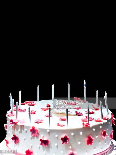 60 is the new 40..birthday cake with one candle lighted