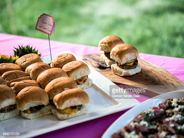 60 is the new 40...Turkey burger sliders at 60th birthday party