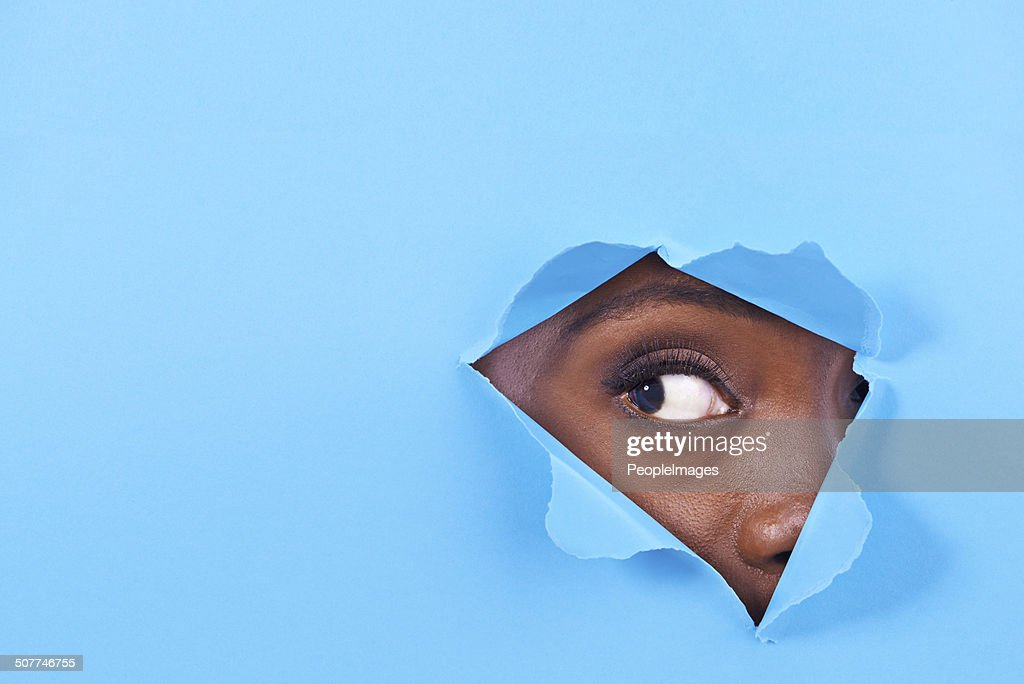Is there something there? : Stock Photo