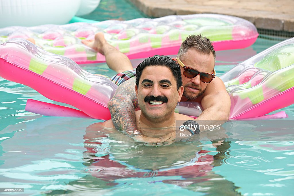 SUNSET -- 'Is This 40?' Episode 314 -- Pictured: (l-r) <a gi-track='captionPersonalityLinkClicked' href=/galleries/search?phrase=Reza+Farahan&family=editorial&specificpeople=9012581 ng-click='$event.stopPropagation()'>Reza Farahan</a>, Adam Neely --