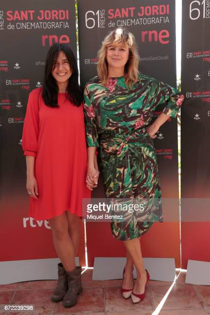 Isa Campo and Emma Suarez attend the press conference of 'Sant Jordi' Cinematography Awards 2017 at Arts Hotel on April 24 2017 in Barcelona Spain