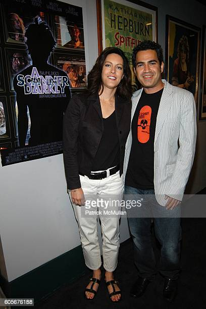 Isa Hackett and Tommy Pallotta attend A SCANNER DARKLY Special Screening at Walter Reade Theater on July 5 2006 in New York City
