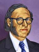 Isaac Asimov American writer of Russian origin Colored drawing