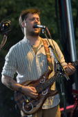 Isaac Brock of Modest Mouse performs during the first day of Pitchfork Music Festival at Union Park on July 16 2010 in Chicago Illinois