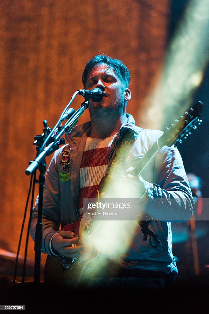 Isaac Brock of Modest Mouse performs on stage at the Beale Street Music Festival on April 30, 2016 in Memphis, Tennessee.