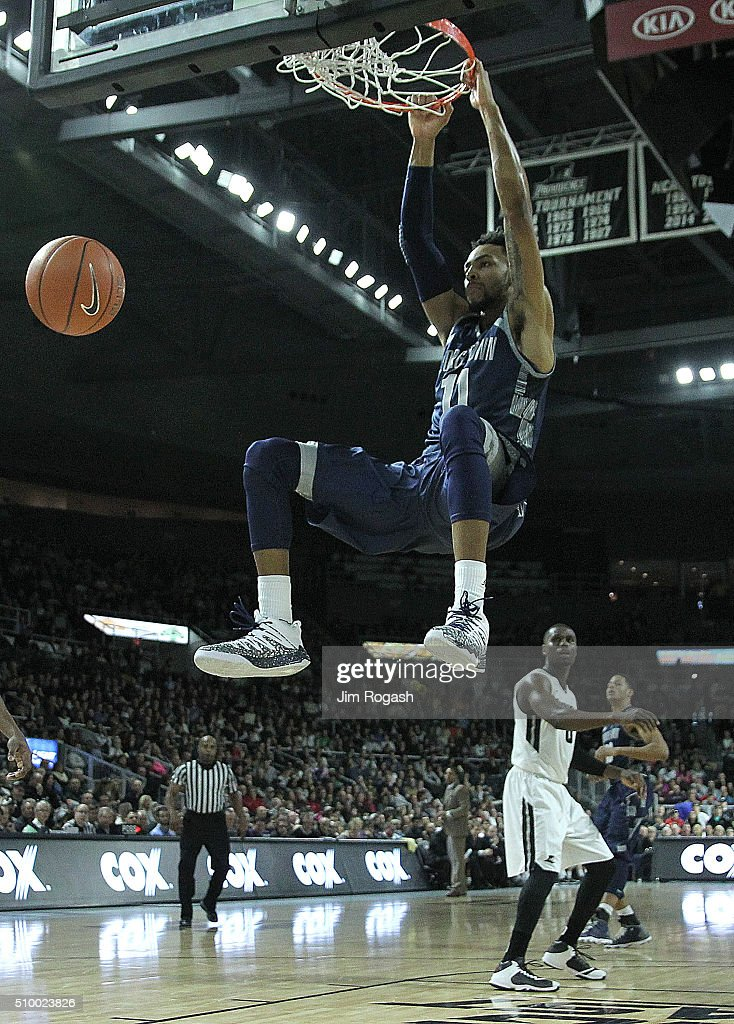 <a gi-track='captionPersonalityLinkClicked' href=/galleries/search?phrase=Isaac+Copeland&family=editorial&specificpeople=11049636 ng-click='$event.stopPropagation()'>Isaac Copeland</a> #11 of the Georgetown Hoyas dunks the ball against the Providence Friars in the second half on February 13, 2016, at the Dunkin' Donuts Center in Providence, Rhode Island.