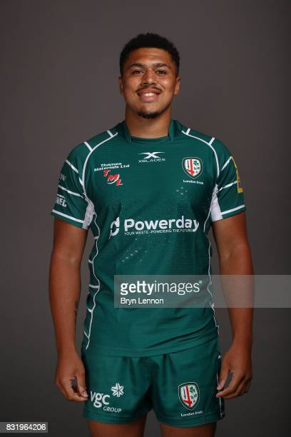 Isaac CurtisHarris of London Irish poses for a portrait during the London Irish squad photo call for the 20172018 Aviva Premiership Rugby season on...
