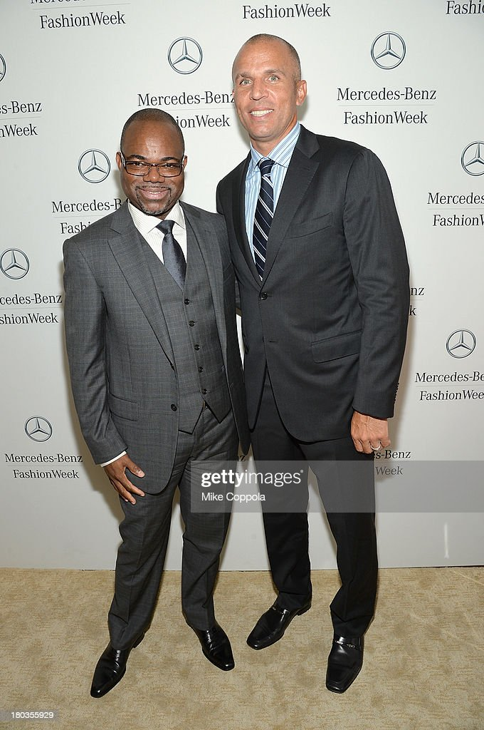 Isaac Daniels and <a gi-track='captionPersonalityLinkClicked' href=/galleries/search?phrase=Jason+Kidd&family=editorial&specificpeople=201560 ng-click='$event.stopPropagation()'>Jason Kidd</a> attend the Mercedes-Benz Star Lounge during Mercedes-Benz Fashion Week Spring 2014 on September 11, 2013 in New York City.