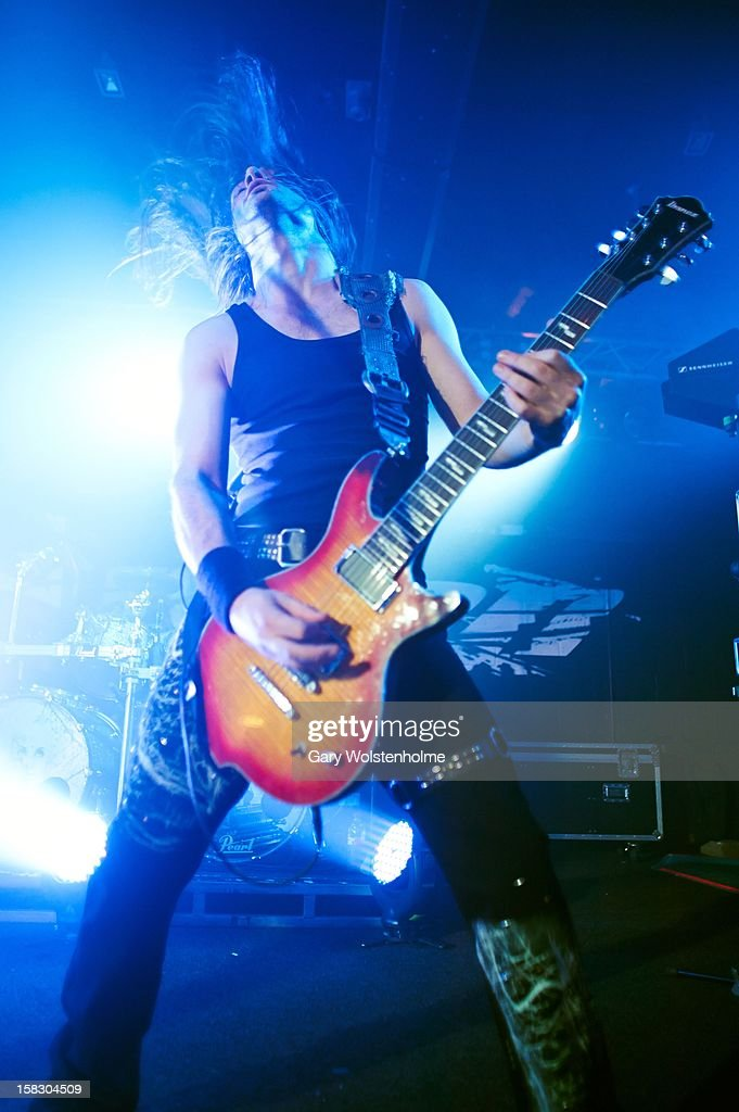 Isaac Delahaye of Epica performs at the Corporation on December 12, 2012 in Sheffield, England.