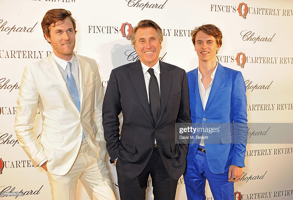 Isaac Ferry, Bryan Ferry and Tara Ferry attend the annual Finch's Quarterly Review Filmmakers Dinner hosted by Charles Finch, Caroline Scheufele and Nick Foulkes at Hotel Du Cap Eden Roc on May 17, 2013 in Antibes, France.
