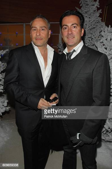 Isaac Franco and Ken Kaufman attend STEVE SADOVE hosts SAKS FIFTH AVENUE Annual Holiday Luncheon at SAKs Fifth Avenue NYC on December 11 2007 in New...