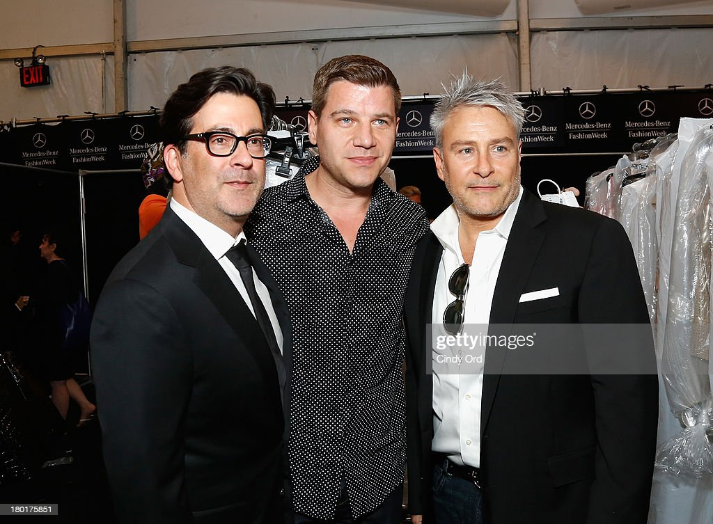 Isaac Franco Tom Murro and Ken Kaufman attend the Kaufmanfranco fashion show during MercedesBenz Fashion Week Spring 2014 at The Theatre at Lincoln...