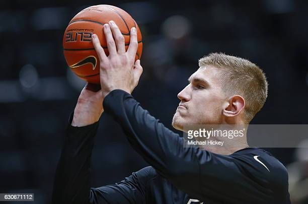 Isaac Haas of the Purdue Boilermakers is seen before the game against the Norfolk State Spartans at Mackey Arena on December 21 2016 in West...