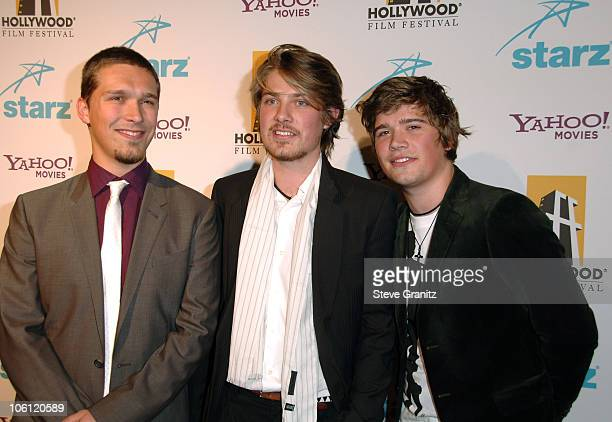 Isaac Hanson Taylor Hanson and Zac Hanson during Hollywood Film Festival 10th Annual Hollywood Awards Arrivals at The Beverly Hilton Hotel in Beverly...
