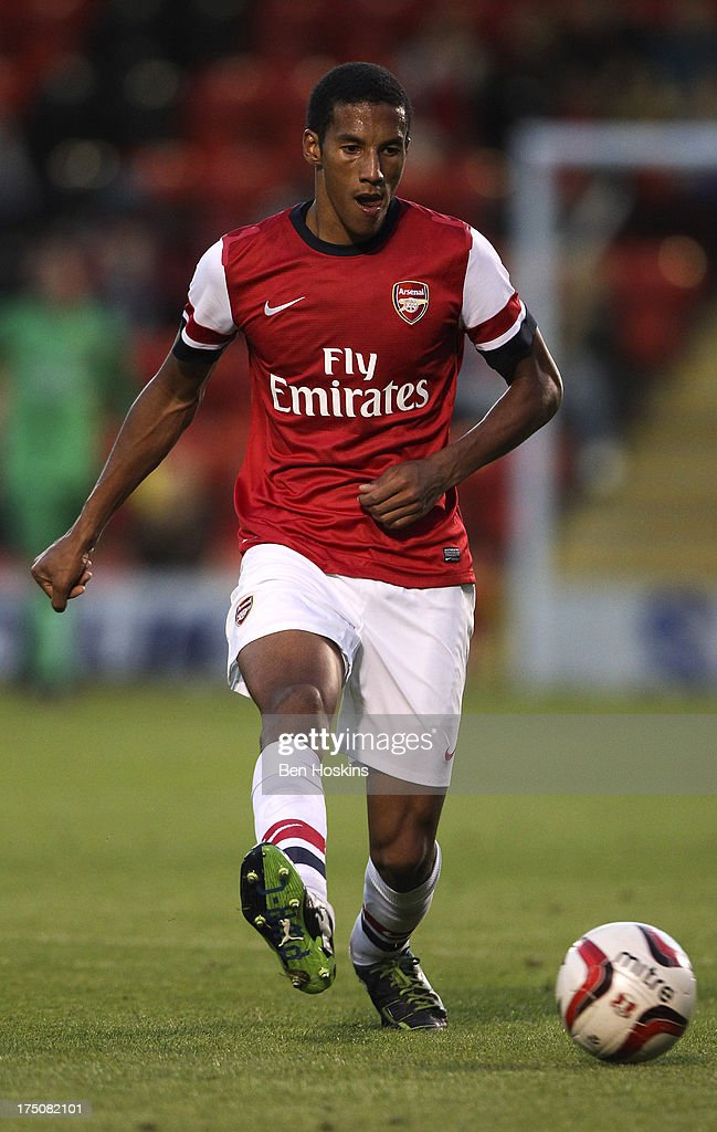 Isaac Hayden of Arsenal during a pre season friendly match between Leyton Orient and an Arsenal XI at the Matchroom Stadium on July 30, 2013 in London, England.
